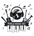 music day concept background simple style vector image