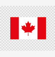 national flag canada on white vector image vector image