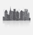 Night city scape concept vector image vector image