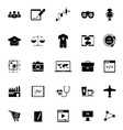 Online working icons on white background vector image vector image