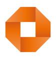 orange infinite ribbon loop folded in a shape of vector image vector image