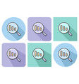 outlined icon of decrease magnifying glass with vector image vector image