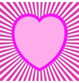 Pink Valentine Card vector image