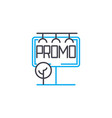 promotional compaign linear icon concept vector image vector image