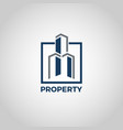properties logo building sign symbol vector image vector image