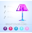 reading-lamp icon with infographic vector image vector image