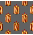 Red Yellow Wax Candles Seamless Pattern vector image vector image