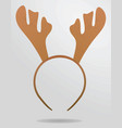 reindeer horns head band vector image vector image