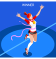 Running Winning Woman 2016 Summer Games 3D vector image vector image