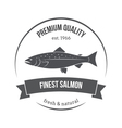 salmon silhouette salmon label vector image vector image