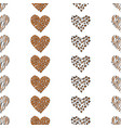 seamless pattern background heart vector image vector image