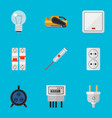 set of 9 editable instruments flat icons includes vector image