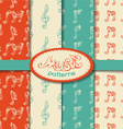 set of seamless retro music patterns vector image vector image