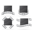 set photo and filmstripe icons vector image vector image