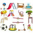 set playground element vector image