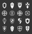 shields set grey vector image vector image