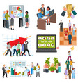 teamwork business people group on conference vector image vector image