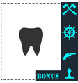 tooth icon flat vector image vector image