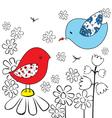 two birds vector image vector image