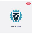 two color lion judah icon from religion vector image vector image