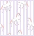 unicorn seamless pattern unicorns with rainbow vector image vector image