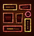 vintage 3d light marquee vegas frames with vector image vector image