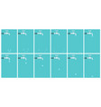 water tap dripping animation sprite sheet on blue vector image vector image