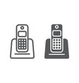 wireless telephone line and glyph icon appliance vector image vector image