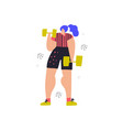 workout with dumbbells hand drawn vector image vector image