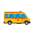 Yellow ambulance car vector image