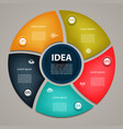 business concept with 5 cyclic options vector image