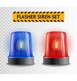 Flasher Siren Transparent Set vector image