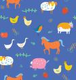 Seamless animals pattern vector image