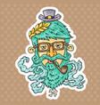 cartoon hipster head vector image