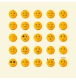 smile icon set Flat Design vector image