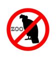 Condor in zoo prohibited vector image