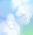 Abstract Bokeh Light Blue Background vector image vector image