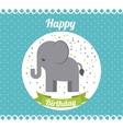 animal cute birthday party celebration vector image