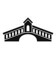 architecture bridge icon simple style vector image vector image