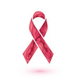 breast cancer awareness sign isolated pink ribbon vector image vector image