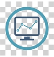 Chart Monitoring Flat Rounded Icon vector image vector image