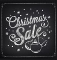 christmas sale design template vector image vector image