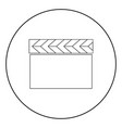 cinema clapper icon black color in circle vector image