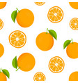 citrus background with oranges seamless pattern vector image