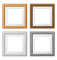 collect wooden frames vector image vector image
