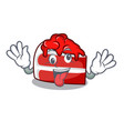 crazy red velvet mascot cartoon vector image vector image