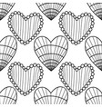 decorative hearts black and white vector image vector image