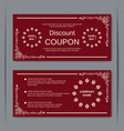 Discount coupon vintage design template vector image vector image
