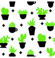 endless wallpaper with home plants scandinavian vector image