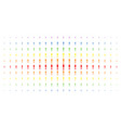 exclamation sign spectrum halftone effect vector image